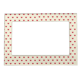 Cute Red Hearts Pattern Magnetic Photo Frame