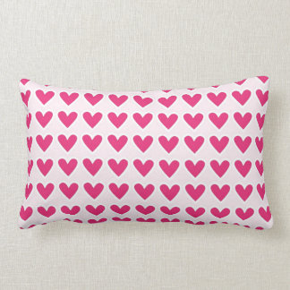 Cute Red Hearts Pattern Pink Valentine's Day Gifts Lumbar Pillow