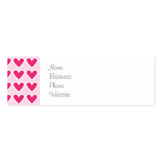 Cute Red Hearts Pattern Pink Valentine's Day Gifts Mini Business Card