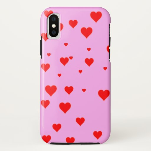 Cute Red Hearts Pink iPhone Case