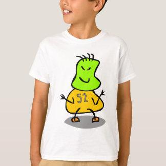 Cute Red Kids Robot,Green Tan,Number 52 T-Shirt