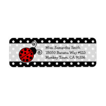 Cute Red Ladybug Polka Dot Return Address Labels