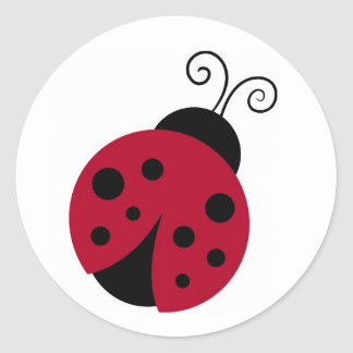 Cute Red Ladybug Stickers Envelope Seals