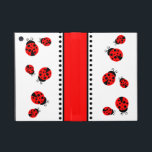 """Cute Red Ladybugs iPad Mini Case<br><div class=""""desc"""">Our Red Ladybugs design features cute little red ladybugs with black spots. Perfect for girly girls,  teens,  kids and ladybug lovers.</div>"""