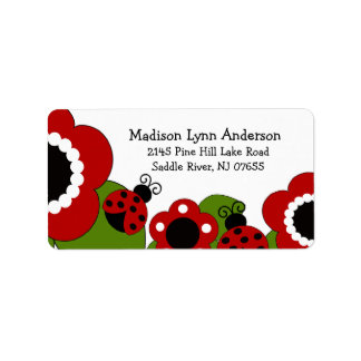 CUTE Red Ladybugs Return Address Label