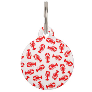 Cute Red Lobster Animal Pattern Pet Tag