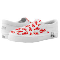 Cute Red Lobster Animal Pattern Slip-On Sneakers