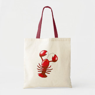 Cute red lobster canvas bags