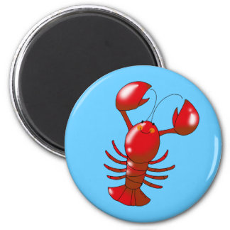 Cute red lobster magnet