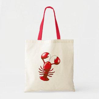 Cute red lobster tote bag