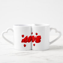 cute RED LOVE couple's mug
