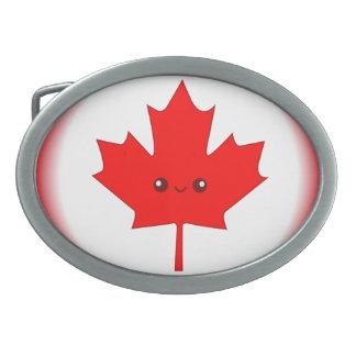 Cute Red Maple Leaf Belt Buckle