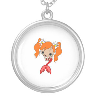 Cute Red Mermaid 3 Necklaces