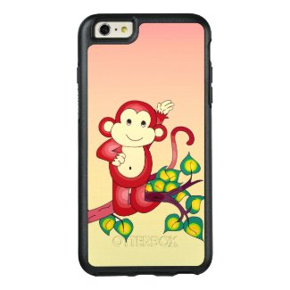 Cute Red Monkey Animal OtterBox iPhone 6 Plus Case