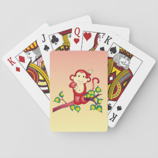 Cute Red Monkey Animal Playing Cards