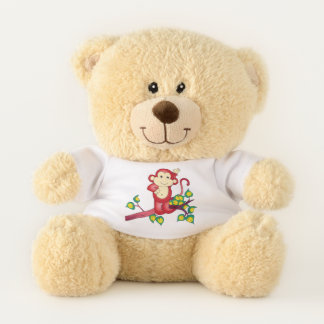 Cute Red Monkey Teddy Bear
