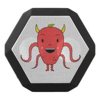 Cute red monster black bluetooth speaker