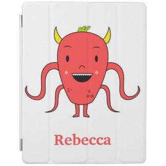 Cute red monster iPad smart cover