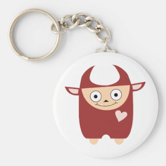 Cute Red Monster Keychain