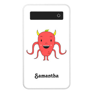 Cute red monster power bank