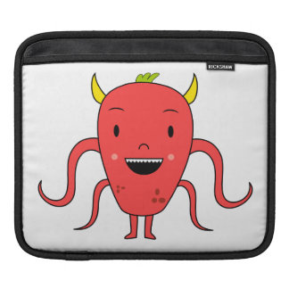 Cute red monster sleeve for iPads