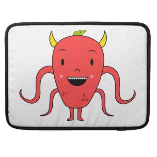 Cute red monster sleeve for MacBooks