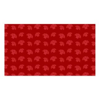 Cute red mushroom pattern business card template