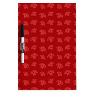 Cute red mushroom pattern Dry-Erase whiteboards