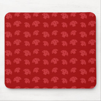 Cute red mushroom pattern mouse pad