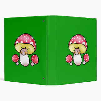 cute red mushrooms 3 ring binder