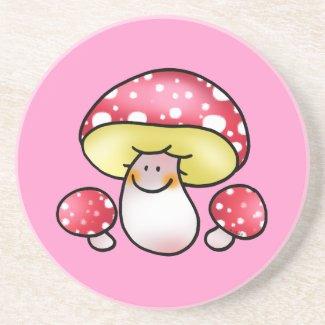 cute red mushrooms