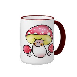 cute red mushrooms coffee mugs