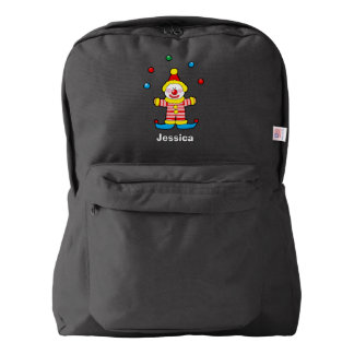 cute red nose circus clown american apparel™ backpack