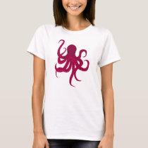Cute Red Octopus T-Shirt