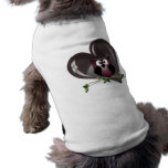 Cute Red Owl and Heart Gifts Doggie Shirt