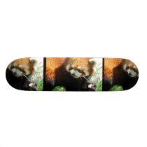 Cute Red Panda Bear Skateboard