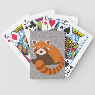 Cute Red Panda Bicycle Playing Cards