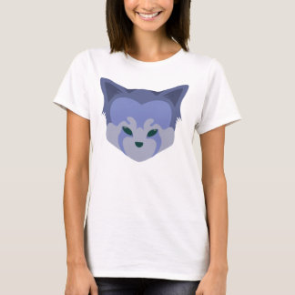 Cute Red Panda Head Logo T-Shirt Purple
