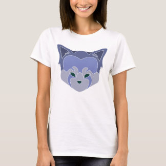 Cute Red Panda Head Logo T-Shirt Purple Lined