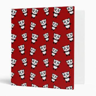 Cute red panda pattern vinyl binders