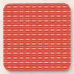 cute red pattern design beverage coasters