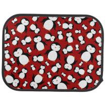 Cute red penguin pattern car floor mat