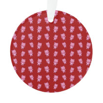 Cute red pig pattern ornament