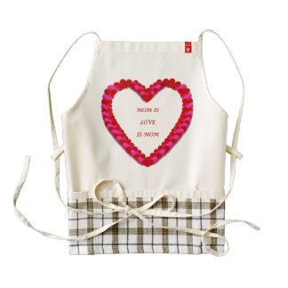 Cute Red & Pink Mother's day Apron