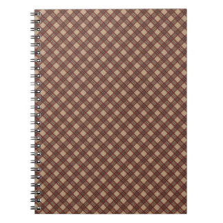 Cute Red Plaid Christmas Tablecloth Look Spiral Notebook