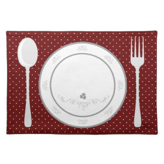 cute red polka dots place setting placemats