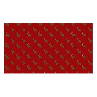 Cute red reindeer pattern business card