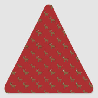 Cute red reindeer pattern triangle sticker