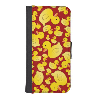 Cute red rubber ducks iPhone 5 wallet