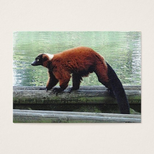 Cute Red-Ruffed Lemur ATC ACEO Trading Business Card